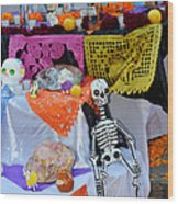 Day Of The Dead Altar, Mexico Wood Print