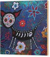 Day Of The Dead Chihuahua Wood Print