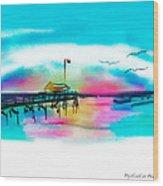 Daybreak At Pawleys Island Wood Print