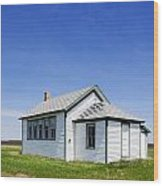 Defunct One Room Country School Building Wood Print