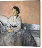 Degas' Madame Rene De Gas Wood Print