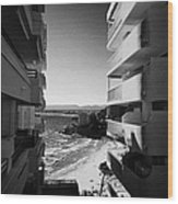Densely Packed Salou Waterfront Properties On The Costa Dorada Catalonia Spain Wood Print