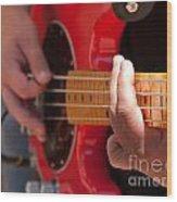 Bass Playing - Denver Wood Print