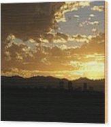 Denver Sunset  I Wood Print