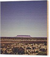 Desert Monolith Wood Print