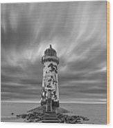 Deserted Lighthouse Wood Print
