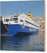 Diagoras Ferry Symi Wood Print