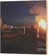 Diamond Jubilee Beacon On Epsom Downs Surrey Uk Wood Print