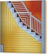 Distorted Stairs Wood Print