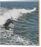 Dolphin Leap Wood Print