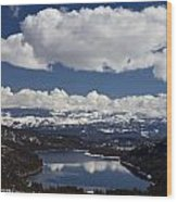 Donner Lake Donner Pass With Snow Wood Print