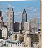 Downtown Atlanta Wood Print