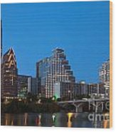 Downtown Austin Skyline Wood Print