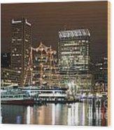 Downtown Baltimore Wood Print