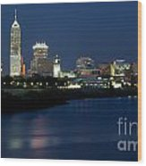 Downtown Indianapolis Indiana Wood Print