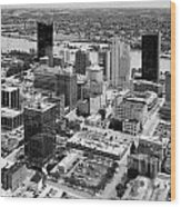 Downtown Skyline Of Toledo Ohio Wood Print