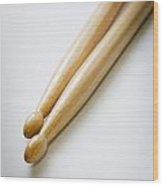 Drum Sticks Wood Print