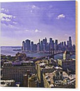 Dumbo View Of Lower Manhattan Wood Print