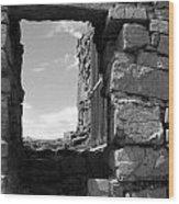 Dun Aengus Doorway Wood Print