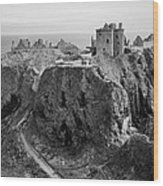 Dunnottar Castle Monochrome Wood Print
