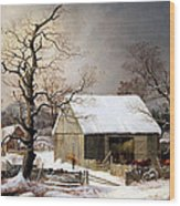 Durrie's Winter In The Country Wood Print