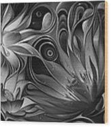 Dynamic Floral Fantasy Wood Print