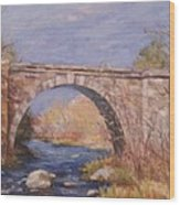 Early Spring At The Trestle Wood Print