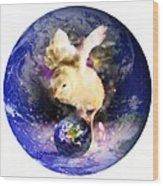 Earth Chick Wood Print