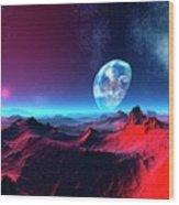 Earth-like Alien Planet Wood Print