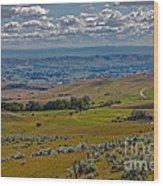 East End Of Emmett Valley Wood Print