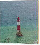 Eastbourne Light House Wood Print