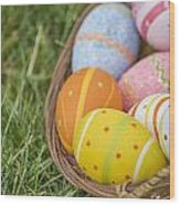 Easter Eggs Wood Print