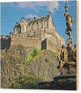 Edinburgh Castle  Wood Print
