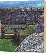 El Morro Fortress Old San Juan Wood Print by Thomas R Fletcher