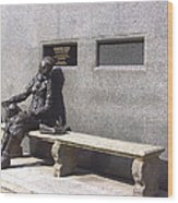Eleanor Rigby Statue Liverpool Uk Wood Print