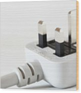 Electrical Plug Wood Print