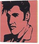 Elvis The King Wood Print