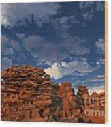 Eroded Sandstone Formations Fantasy Canyon Utah Wood Print