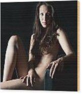 Erotic Woman Wood Print
