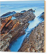 Eternal Tides - The Strange Jagged Rocks And Cliffs Of Montana De Oro State Park In California Wood Print