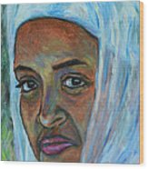 Ethiopian Lady Wood Print