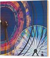 Evergreen State Fair Ferris Wheel Wood Print
