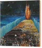 Exodus Wood Print by Richard Mcbee