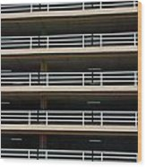 Facade Of Parking Building In Thailand Wood Print