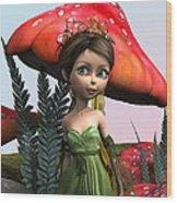 Fairy In Woodland Wood Print