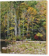 Fall Color River Wood Print by Thomas R Fletcher