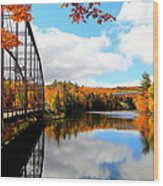 Autumn In Upper Michigan Wood Print