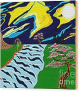 Fantasy Trees Wood Print by Lewanda Laboy