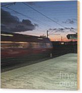 Fast Train Wood Print