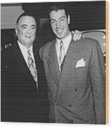 Fbi Director J. Edgar Hoover Wood Print